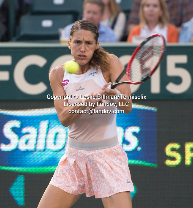 Andrea Petkovic (GER)  defeats Chanelle Scheepers (RSA) 1-6, 6-1, 6-2 at the Family Circle Cup in Charleston, South Carolina on April 7, 2015.