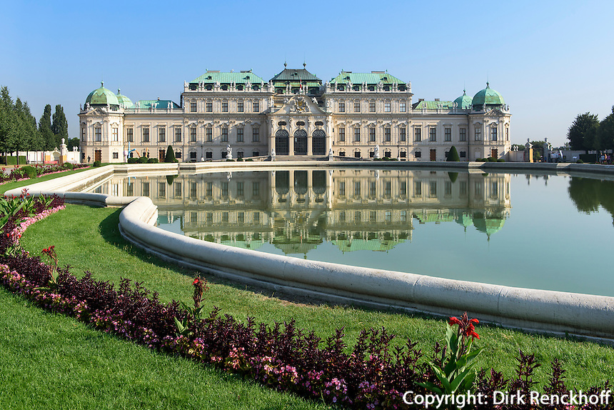 Oberes Belvedere im barocker Sommerresidenz Belvedere, Wien, &Ouml;sterreich, UNESCO-Weltkulturerbe<br /> Upper Belvedere in Baroque summer residence Belvedere, Vienna, Austria, world heritage