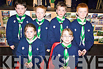 SCOUTS: Members of the new Scout Group in Milltown being invested on Sunday, including front l-r: Roisin Whelan, Michaela Daly. Back l-r: Rian Kelly, Adam Scanlon, Daniel Cronin, Luke Heffernan.