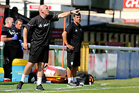 Woking Assistant Manager, Jason Goodliffe, issues some instructions from the touchline during Woking vs Watford, Friendly Match Football at The Laithwaite Community Stadium on 8th July 2017