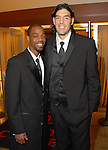 Rafer Alston and Luis Scola at the Houston Rockets Tux & Tennies benefit at Toyota Center Thursday March  27,2008. (Dave Rossman/For the Chronicle)