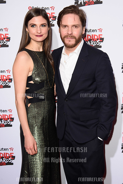 Daniel Bruhl arriving for the Empire Awards 2018 at the Roundhouse, Camden, London, UK. <br /> 18 March  2018<br /> Picture: Steve Vas/Featureflash/SilverHub 0208 004 5359 sales@silverhubmedia.com
