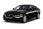 2019 Jaguar XE R-Sport 4 Door Sedan angular front stock photos of front three quarter view