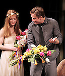 Genevieve Angelson & Billy Magnussen during the Broadway Opening Night Performance of 'Vanya and Sonia and Masha and Spike' at the Golden Theatre in New York City on 3/14/2013.