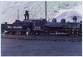 K-28 #478 with fake stack in yard.<br /> D&amp;RGW