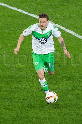01.04.2016. Leverkusen, Germay. Bundesliga football. Bayer Leverkusen versus VFL Wolfsburg in the BayArena in Leverkusen. Max Kruse (VfL Wolfsburg 11)
