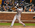 Conor Gillaspie (Giants),<br /> OCTOBER 5, 2016 - MLB :<br /> Conor Gillaspie of the San Francisco Giants hits a three-run home run in the ninth inning during the National League Wild Card Game against the New York Mets at Citi Field in Flushing, New York, United States. (Photo by Hiroaki Yamaguchi/AFLO)