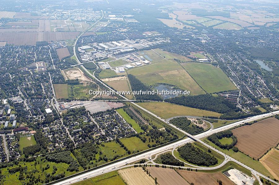 Deutschland, Schleswig- Holstein, Glinde, Biedenkamp, Gewerbegebiet,, BAB Abfahrt Reinbek Glinde, A26, K80, Glinde aus Richtung Nordost