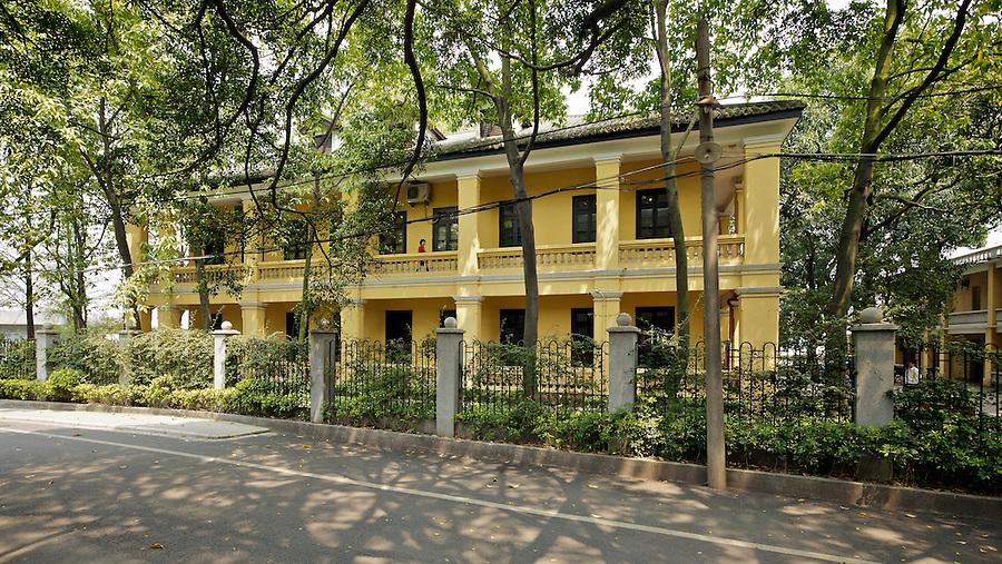 Custom House On Danes' Island, Whampoa - Street-Side, South Elevation.  Guangzhou (Canton).