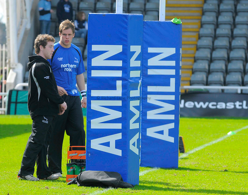 Generic view of corporate sponsorship at Kingston Park for the Amlin Challenge Cup between Newcastle Falcons and Cardiff Blues..Photo: Richard Lee/Richard Lane Photography. Newcastle Falcons v Cardiff Blues. Amlin Challenge Cup Quarter Final. 11/04/2010.