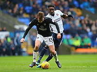 Bolton Wanderers' Sammy Ameobi taking on Tim Ream of Fulham<br /> <br /> Photographer Leila Coker/CameraSport<br /> <br /> The EFL Sky Bet Championship - Bolton Wanderers v Fulham - Saturday 10th February 2018 - Macron Stadium - Bolton<br /> <br /> World Copyright &copy; 2018 CameraSport. All rights reserved. 43 Linden Ave. Countesthorpe. Leicester. England. LE8 5PG - Tel: +44 (0) 116 277 4147 - admin@camerasport.com - www.camerasport.com