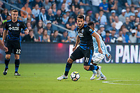 Kansas City, KS - Wednesday August 9, 2017: Valeri Qazaishvili during a Lamar Hunt U.S. Open Cup Semifinal match between Sporting Kansas City and the San Jose Earthquakes at Children's Mercy Park.