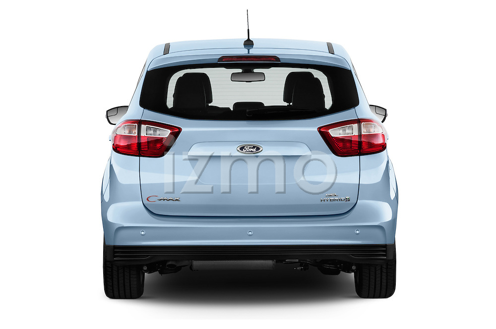 Straight rear view of 2013 Ford C Max Hybrid SEL Stock Photo