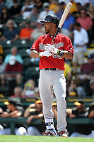 Minnesota Twins outfielder Eddie Rosario (60) during a Spring Training game against the Pittsburgh Pirates on March 13, 2015 at McKechnie Field in Bradenton, Florida.  Minnesota defeated Pittsburgh 8-3.  (Mike Janes/Four Seam Images)