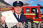 Abbeyfeale Fire Station Officer Edmond O'Donoghue who received a special award recently for his dedicated 30 years in the fire service.