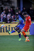 5th November 2017, Damson Park, Solihull, England; FA Cup first round, Solihull Moors versus Wycombe Wanderers; Joe Jacobson of Wycombe Wanderers tries to block the cross from Akwasi Asante of Solihull Moors