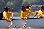 Canoe Journey, Paddle to Nisqually, 2016, Snohomish Nation, Spirit Bay, Northwest tribal canoes arriving in Olympia, Washington, 7-30-2016, Salish Sea, Puget Sound, Washington State, USA,