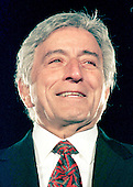 Tony Bennett appears during the lighting of the National Christmas Tree on the Ellipse in Washington, D.C. on December 9, 1998..Credit: Ron Sachs / CNP