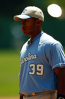 North Carolina Tar Heels' 1B Tarron Robinson prior to NC's game vs. the Boston College Eagles  at Shea Field May 16, 2009 in Chestnut Hill, MA (Photo by Ken Babbitt/Four Seam Images)