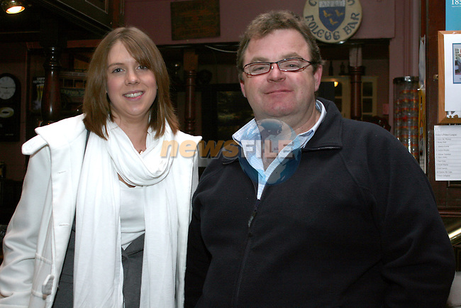 Rachel Johnson and Barry McHugh at the quiz in Foleys..Photo NEWSFILE/Jenny Matthews.(Photo credit should read Jenny Matthews/NEWSFILE)....This Picture has been sent you under the condtions enclosed by:.Newsfile Ltd..The Studio,.Millmount Abbey,.Drogheda,.Co Meath..Ireland..Tel: +353(0)41-9871240.Fax: +353(0)41-9871260.GSM: +353(0)86-2500958.email: pictures@newsfile.ie.www.newsfile.ie.FTP: 193.120.102.198.