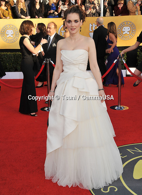 17th SAG Awards at the Shrine Theatre In Los Angeles.<br /> Winona Ryder