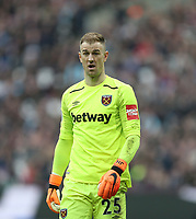 West Ham United's Joe Hart<br /> <br /> Photographer Rob Newell/CameraSport<br /> <br /> The Premier League - West Ham United v Burnley - Saturday 10th March 2018 - London Stadium - London<br /> <br /> World Copyright &not;&copy; 2018 CameraSport. All rights reserved. 43 Linden Ave. Countesthorpe. Leicester. England. LE8 5PG - Tel: +44 (0) 116 277 4147 - admin@camerasport.com - www.camerasport.com