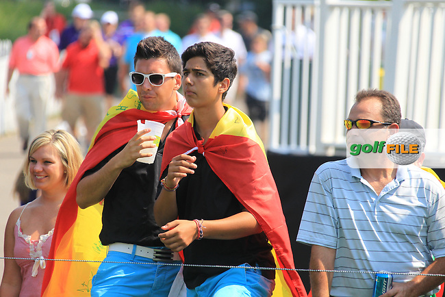 Fans of Alvaro Quiros (ESP) on the 17th tee during Friday's Round 2 of the 2012 World Golf Championship Bridgestone Invitational at The Firestone Country Club, Akron, Ohio, USA 3rd August 2012 (Photo Eoin Clarke/www.golffile.ie)