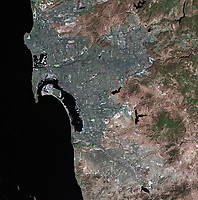 satellite image of San Diego, California and Tijuana, Mexico