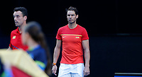6th January 2020; RAC Arena, Perth, Western Australia; ATP Cup Australia, Perth, Day 4; Spain versus Uruguay; Rafael Nadal of Spain walks onto the court for the National Anthems - Editorial Use