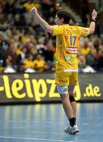 Handball Frauen / Damen  / women 1. Bundesliga - DHB - HC Leipzig : Frankfurter HC - im Bild: Jubelpose - Anne Müller . Porträt . Foto: Norman Rembarz .