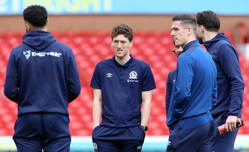 The Blackburn Rovers players inspect the pitch before kick off<br /> <br /> Photographer David Shipman/CameraSport<br /> <br /> The EFL Sky Bet Championship - Nottingham Forest v Blackburn Rovers - Saturday 13th April 2019 - The City Ground - Nottingham<br /> <br /> World Copyright © 2019 CameraSport. All rights reserved. 43 Linden Ave. Countesthorpe. Leicester. England. LE8 5PG - Tel: +44 (0) 116 277 4147 - admin@camerasport.com - www.camerasport.com