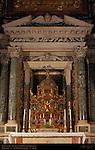 Altar of the Blessed Sacrament Pier Paolo Olivieri Ciborium Tabernacle Octagonal Gilded Bronze Precious Stones Pompeo Targone Verde Antico Brecchia Corinthian Columns St John in Lateran Rome