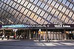 Stockholm 2015-03-14 Bandy Bronsmatch Hammarby IF - Villa Lidk&ouml;ping BK :  <br /> Reklam f&ouml;r Bronsmatch p&aring; fasaden p&aring; Tele2 Arena inf&ouml;r matchen mellan Hammarby IF och Villa Lidk&ouml;ping BK <br /> (Foto: Kenta J&ouml;nsson) Nyckelord:  Tele2 Arena SM Brons Bronsmatch Tredjepris herr herrar Hammarby HIF Bajen Villa Lidk&ouml;ping VLBK utomhus exteri&ouml;r exterior fasad reklam