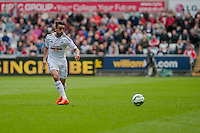SWANSEA, WALES - APRIL 04: Neil Taylor of Swansea City  in action during the Premier League match between Swansea City and Hull City at Liberty Stadium on April 04, 2015 in Swansea, Wales.  (photo by Athena Pictures)