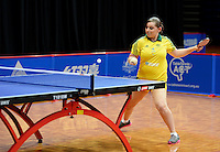 Kylie Loveless (AUS)<br /> 2013 ITTF PTT Oceania Regional<br /> Para Table Tennis Championships<br /> AIS Arena Canberra ACT AUS<br /> Wednesday November 13th 2013<br /> © Sport the library / Jeff Crow