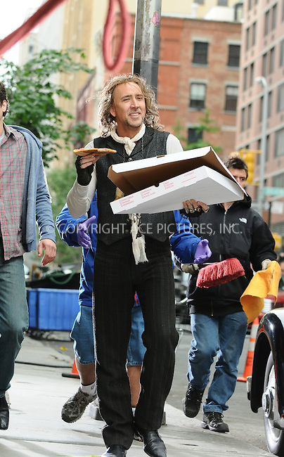 WWW.ACEPIXS.COM . . . . .  ....May 26 2009, New York City....Actor Nicolas Cage was on the Manhattan set of the new movie 'The Sorcerer's Apprentice' on May 26 2009 in New York city....Please byline: AJ Sokalner - ACEPIXS.COM..... *** ***..Ace Pictures, Inc:  ..tel: (212) 243 8787..e-mail: info@acepixs.com..web: http://www.acepixs.com