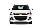 Car photography straight front view of a 2017 Chevrolet Spark 1LT 5 Door Hatchback Front View