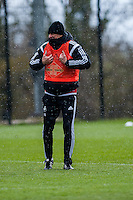 Wednesday  27 April 2016<br /> <br /> Pictured: Francesco Guidolin, Manager of Swansea City   during training <br /> Re: Swansea City Training Session at the Fairwood Ground, Swansea, Wales, UK