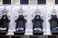 Shirts hang in the Dressing room <br /> Re: Behind the Scenes Photographs at the Liberty Stadium ahead of and during the Premier League match between Swansea City and Bournemouth at the Liberty Stadium, Swansea, Wales, UK. Saturday 25 November 2017