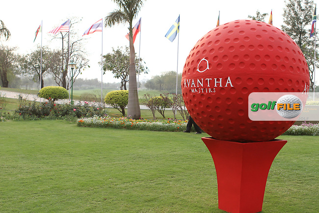 Tented village almost complete ahead of the 2013 Avantha Masters, Jaypee Greens Golf Club, Greater Noida, Delhi...(Photo Jenny Matthews/www.golffile.ie)