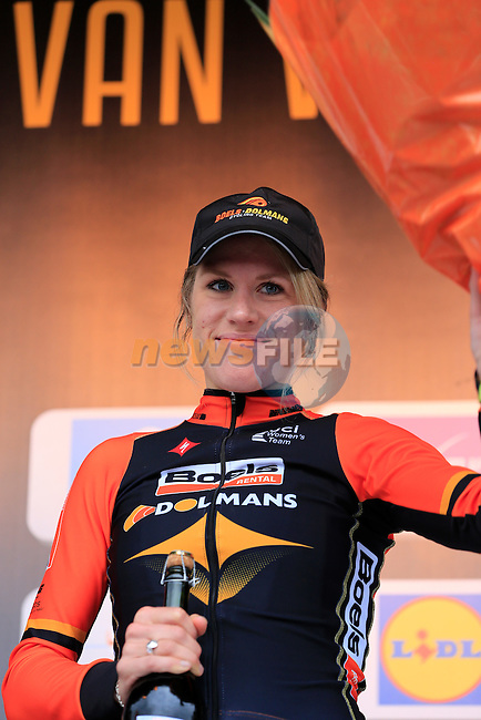 Ellen Van Dijk (NED) Boels Dolmans wins the 2014 Women's Tour of Flanders, Oudenaarde, Belgium.<br /> Picture: Eoin Clarke www.newsfile.ie