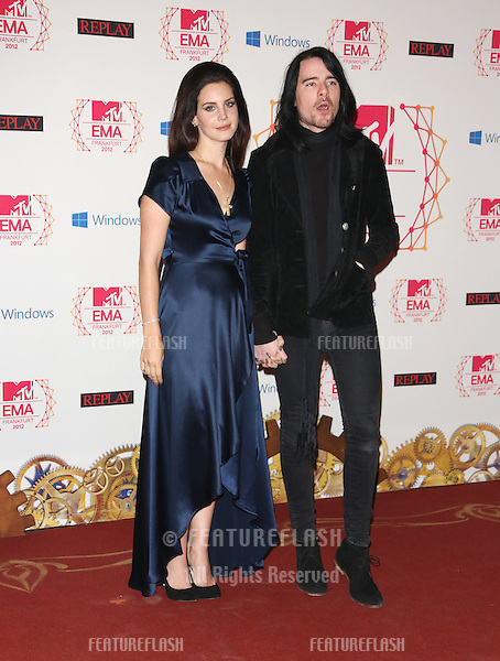 Lana Del Rey with her boyfriend Barrie-James O'Neill at The MTV EMA's 2012 held at Festhalle - press room, Frankfurt, Germany. 11/11/2012 Picture by: Henry Harris / Featureflash