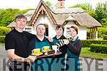 Walter Ryan-Purcell Daniel Cronin, Philip Fitzmaurice and Nakiita Burke who have reopened Deenagh Cottage tea rooms