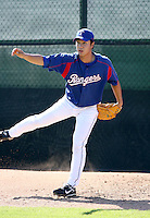 Tae Ahn / Texas Rangers 2008 Instructional League..Photo by:  Bill Mitchell/Four Seam Images