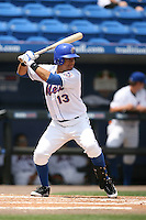 April 12, 2009:  Outfielder Carlos Guzman (13) of the St. Lucie Mets, Florida State League Class-A affiliate of the New York Mets, during a game at Tradition Field in St. Lucie, FL.  Photo by:  Mike Janes/Four Seam Images