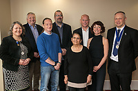 Pictured from left are Deborah Labbate, council member, Richard Cooper, Deputy Presdent, Steven Doig of Grown Spaces, Chris Easton of Bestwood Park Church, Parminder Dhanjal of SFiCE Foundation, Laura Browne of Business in the Community and Mark Deakin, President