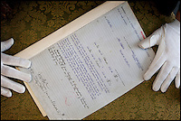 BNPS.co.uk (01202 558833)<br /> Picture: HAldridge/BNPS<br /> <br /> The insurance certificate that covered the 'total loss' of the Titanic for five million dollars.<br /> <br /> The original policy document shows the insurance cover for the liner was only taken out on March 30, 1912 - just two weeks before the ship hit an iceberg and sunk.<br /> <br /> The document states: &quot;This policy is subject to total loss or constructive total loss of the vessel.&quot; It is being sold by Henry Aldridge and Son auctioneers.