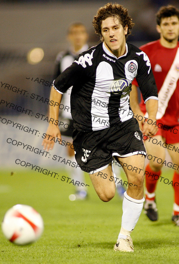 Partizan Belgrade player Stevan Jovetic, in action, during UEFA Cup, first qualifying round, second leg, soccer match in Belgrade, Serbia, Thursday, Aug. 2, 2007. (Srdjan Stevanovic/starsportphoto.com)