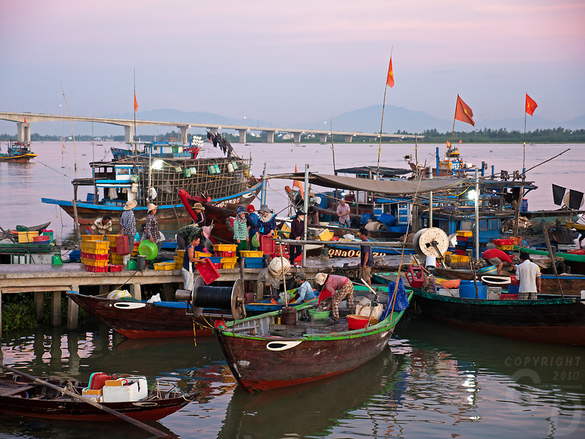 Hoi An fish port and Harbor, Vietnam