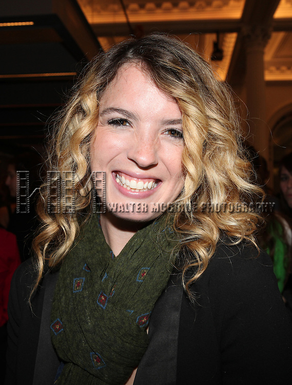 Kacie Sheik attending the Unveiling of the Revitalized Public Theater at Astor Place in New York City on 10/4/2012.